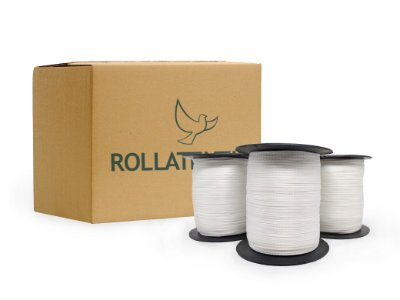 Fita reforço poliester- 1,5mm - rolo c/1000mts - unidade ou caixa com 27 rolos