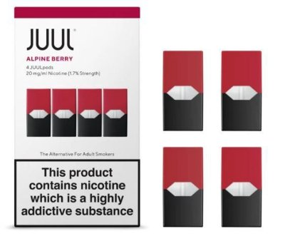 REFIL JUUL (PACK OF 4) ALPINE BERRY 1,7% LONDRES