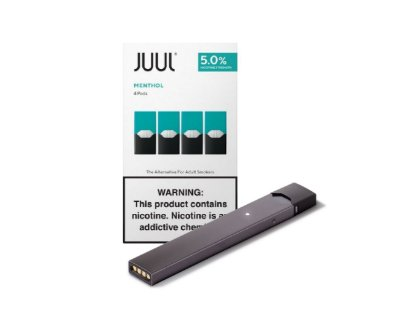 PROMOÇÃO COMBO JUUL - 1 DEVICE SILVER + 1 REFIL MENTHOL (PACK OF 4)