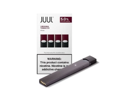 PROMOÇÃO COMBO JUUL - 1 DEVICE GRAFITE + 1 REFIL VIRGINIA TOBACCO (PACK OF 4)