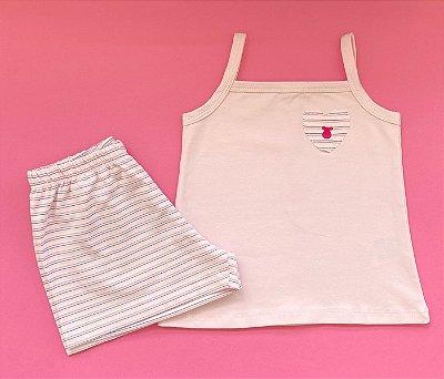 Pijama Feminino Shortinho e Blusa