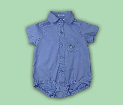 Francês Bebê Polo Social Cor Azul