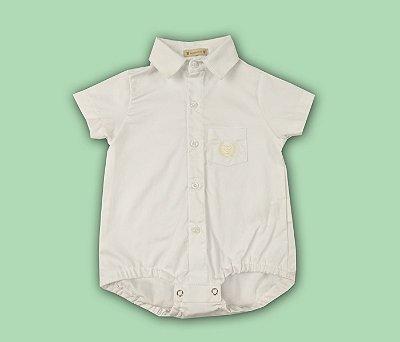 Francês Bebê Polo Social Cor Branco