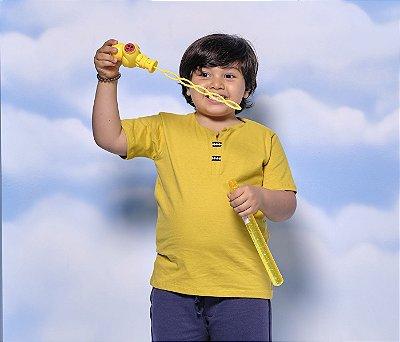 Camisa Gola V Jet Sarjado Cor Amarelo