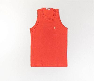 Camiseta Infantil Cotton Cor laranja