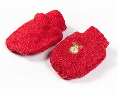 Luvinhas e Pantufas Bebê Malha vermelho