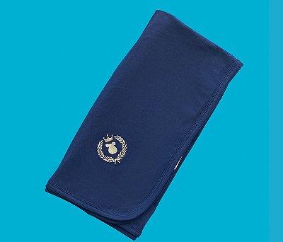 Manta Bebê Cotton Cor Azul Marinho