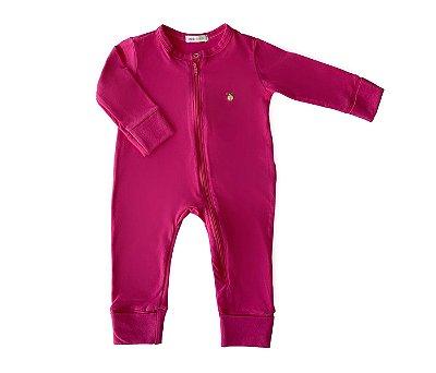 Macacão Bebê Básico rosa pink