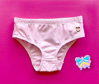Calcinha infantil básica super rosa