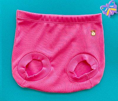 Tapa Fraldas Bebê Básico Canelado Cor Rosa