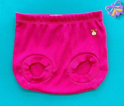 Tapa Fraldas Bebê Básico Canelado Cor Pink
