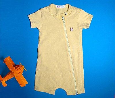 Francês Bebê com Zíper Cotton Amarelo