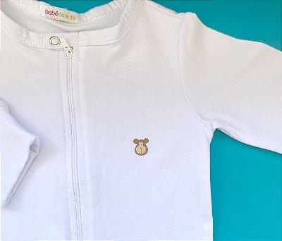 Macacão Bebê Básico Cor Branco