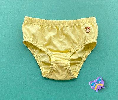Calcinha Infantil Cotton Cor amarela claro