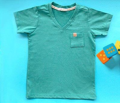 Camisa Gola V Confort Verde