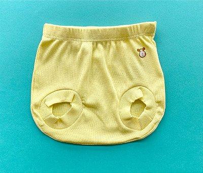 Tapa Fraldas Bebê Básico Cor Amarelo