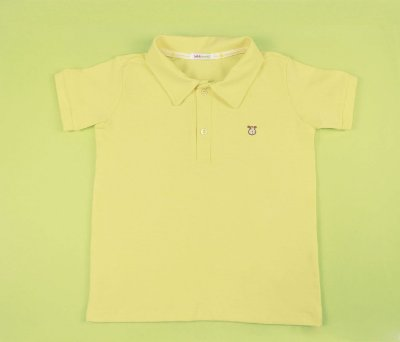 Camisa Gola Polo Infantil Cotton Cor Amarelo