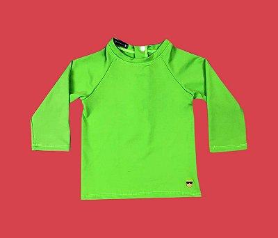 Camisa Proteção Bebê Cor Verde Neon