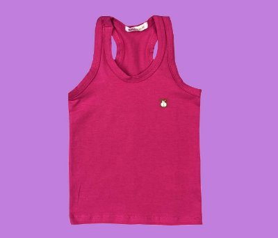 Camiseta Infantil Cotton Cor Rosa Pink