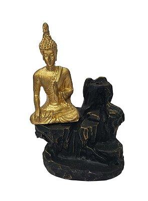 Porta Incenso de Cascata Buda Meditando