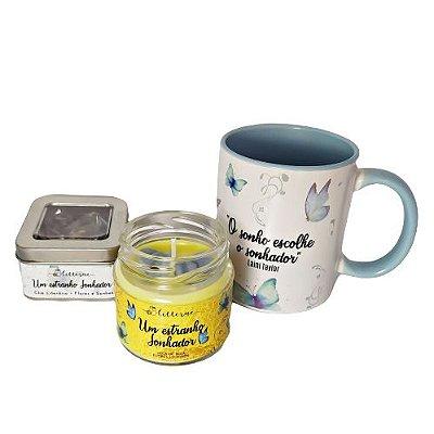 BOX Um Estranho Sonhador - Vela literária + caneca + chá literário