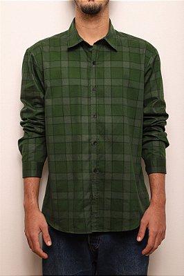 camisa masculina estampada xadrez verde