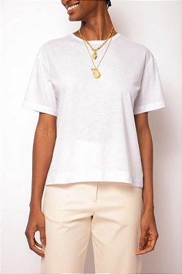 t-shirt malha branca