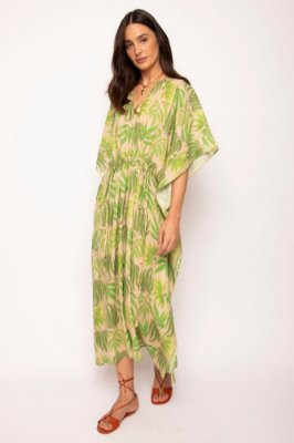 vestido bata colissê samambaia verde