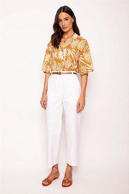 calça recorte branco