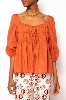 blusa colissê franzida cobre