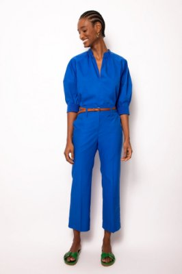calça sem cós azul