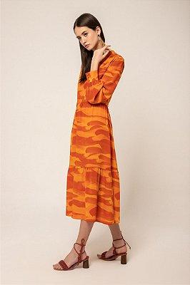 Vestido decote v franzido - DESERTO