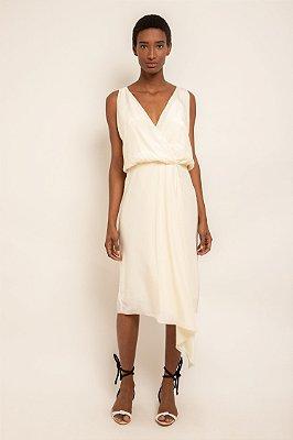 Vestido saia envelope off white