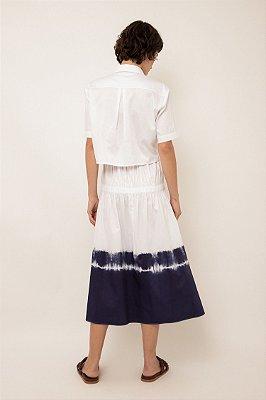 Camisa cropped de algodão branco