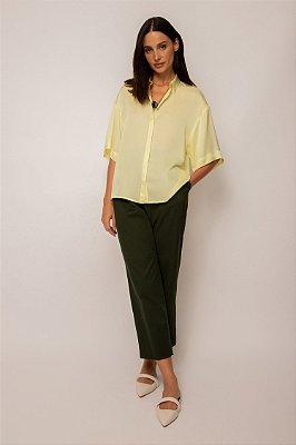camisa de cetim box - LIMA