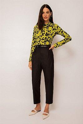 blusa de malha manga longa camuflado
