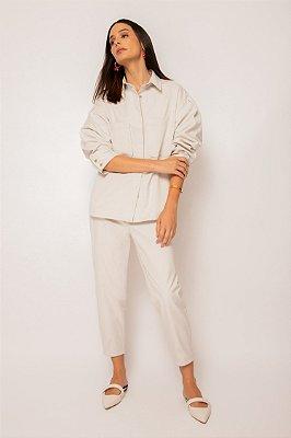 camisa com bolso de algodão gelo - GELO
