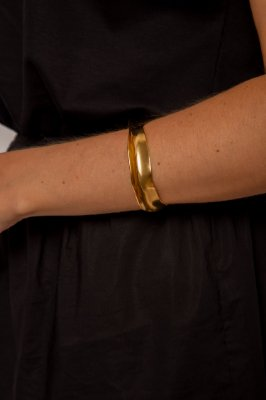 bracelete ondas ouro - OURO