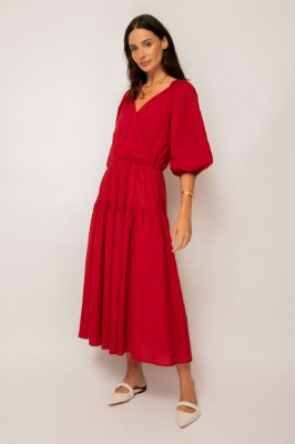 vestido cachecouer de voil cereja