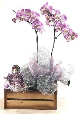 Kit Orquídea + Boneca de Porcelana