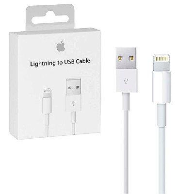 Cabo Carregador Lightning 1 Metros para Iphone MD818ZMA  A1480 Apple
