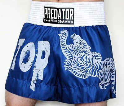 Short de Kickboxing - Predator MMA Tiger - Azul