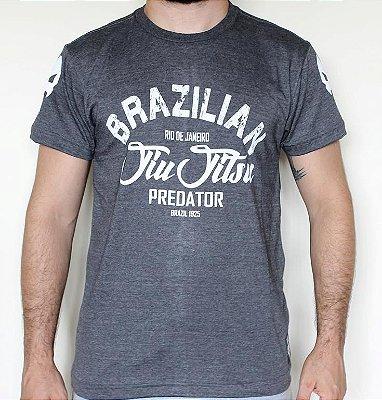 Camiseta Jiu Jitsu - BJJ - Mescla Chumbo