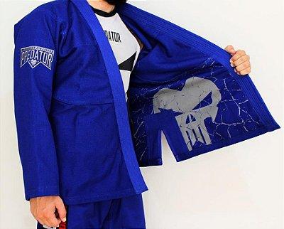 Kimono Predator MMA - Tradicional - Grey - Azul