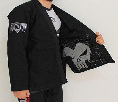 Kimono Predator MMA - Tradicional - Grey - Preto