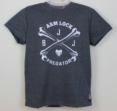 Camiseta Jiu Jitsu - Arm Lock - Chumbo