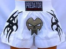 Short de Muay Thai - Predator MMA - Tribal - Branco