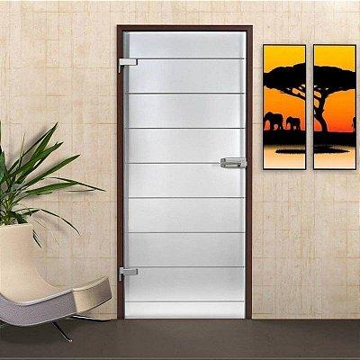 Adesivo Jateado Fosco - Faixas Horizontais 1,80 x 0,55