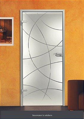 Adesivo jateado 139 Para Vidros 210x100 (para portas até 100 cm de largura)