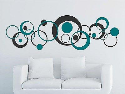 Adesivo de parede - Círculos Retrô